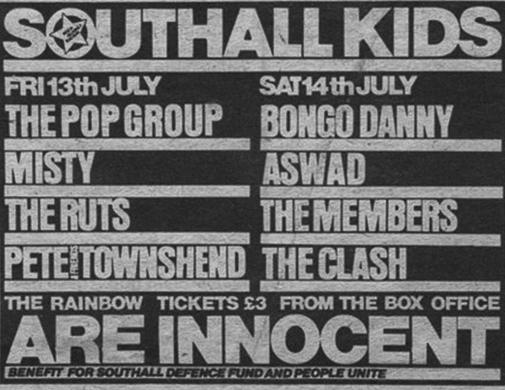 Image 2 : Poster from benefit concert held to support Peoples unite centre