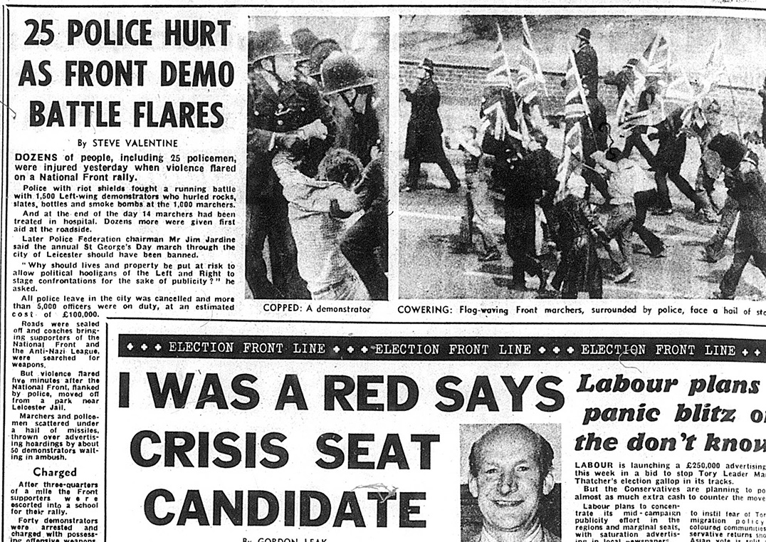 Newspaper report from Leicester April 21, 1979