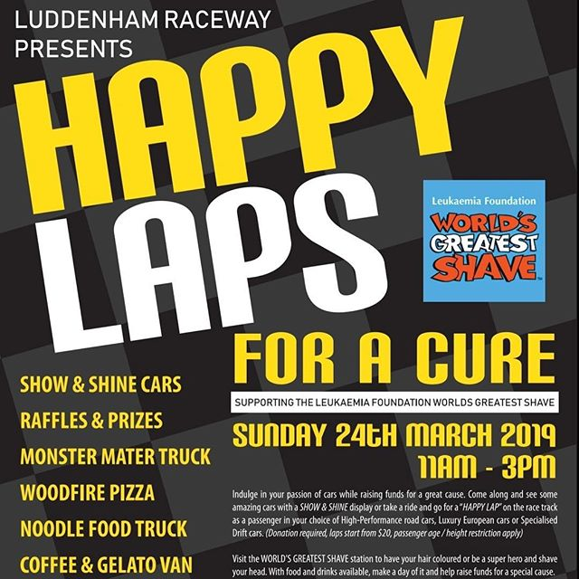 "EXCITING NEWS 🤗🤗🤗🍕🍕🍕 We will be supporting #HAPPYLAPSFORACURE event and cooking up AMAZING pizzas on the day. So please support us by eating a pizza or two or ten 🤣😂 All money raised by the sale of the pizzas on the day will be generously donated by us and will go directly to the ""World's greatest shave"". Sunday 24th March at Luddenham Raceway 11am-3pm. Luddenham Raceway #pizzaemergencydonate  #worldsgreatestshave #happylaps #luddenhamraceway #driftcars #trackattack #monstermater #driftcarexperience #totaltools #totaltoolspenrith #pizza #salonkiin"