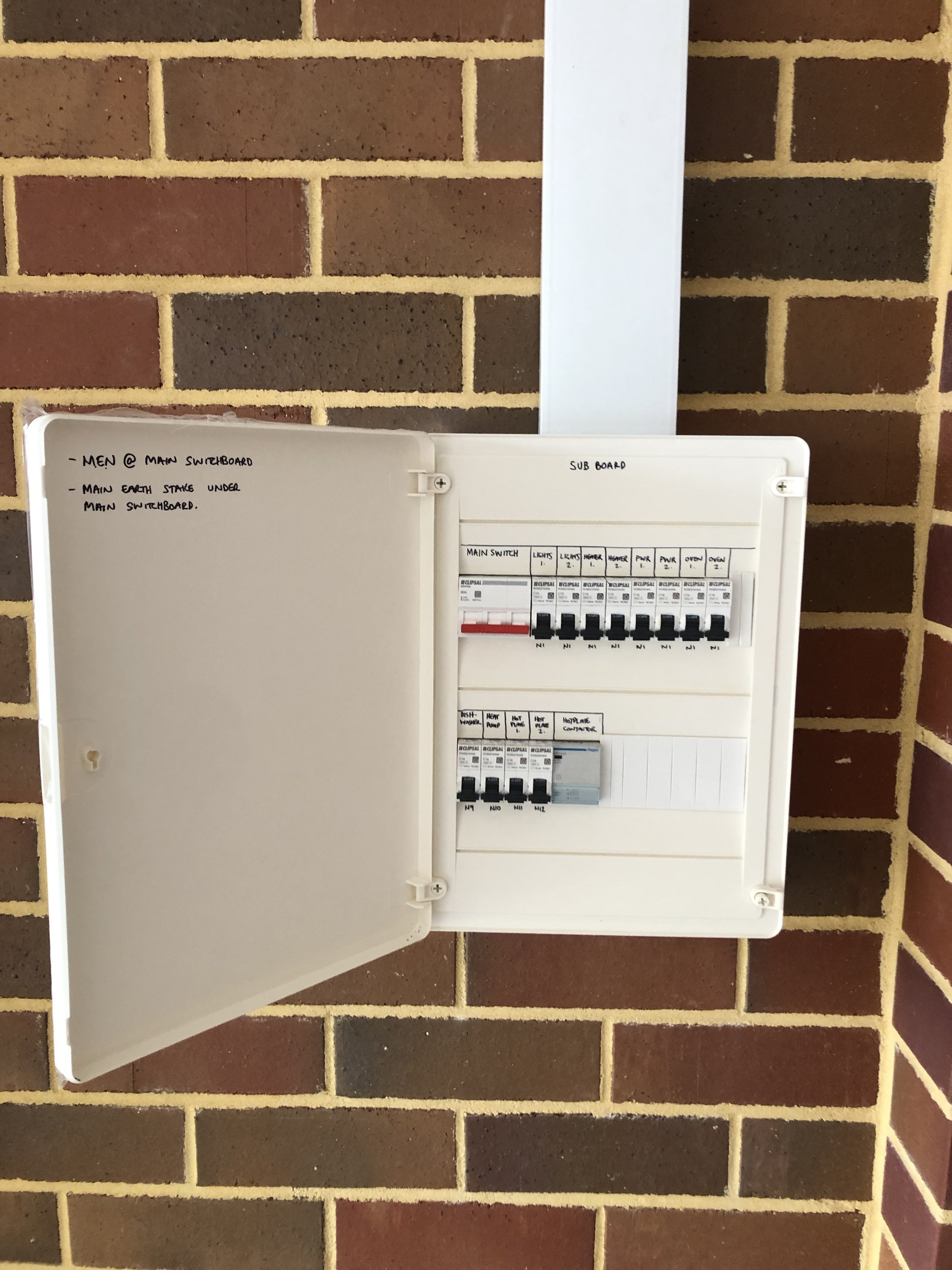 RCDs - RCDs monitor the flow of electricity from the main switchboard and prevent electrocution by cutting the electricity supply if an imbalance in the current is detected.If you are unsure if you have RCDs installed, send us a photo of your switchboard for free advice!
