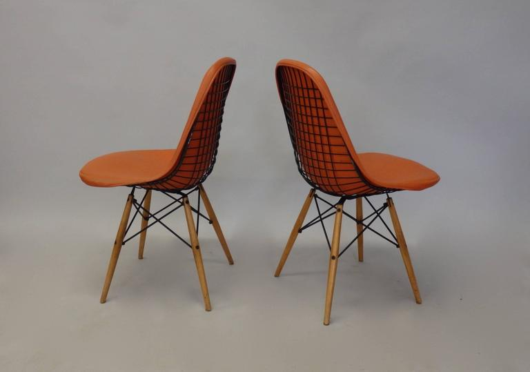 Eames Dowel Leg Wire Chairs
