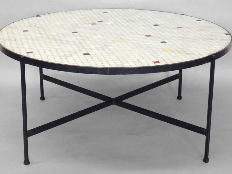 Inset Gl Tile Top Coffee Table