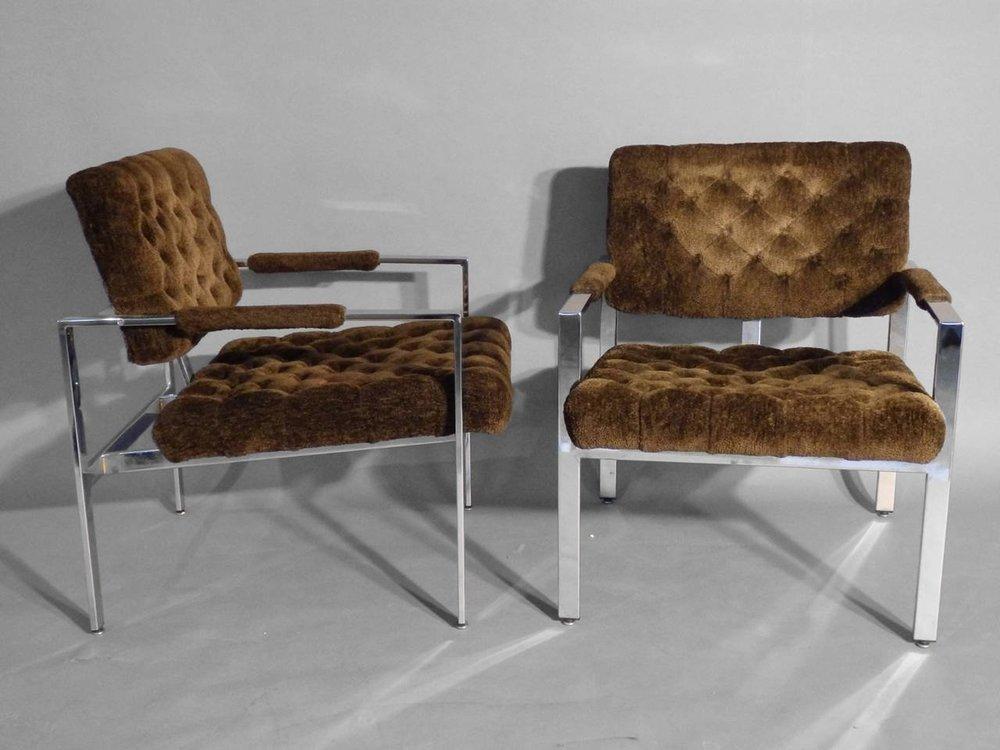 Milo Baughman Chrome Frame Chairs.jpeg