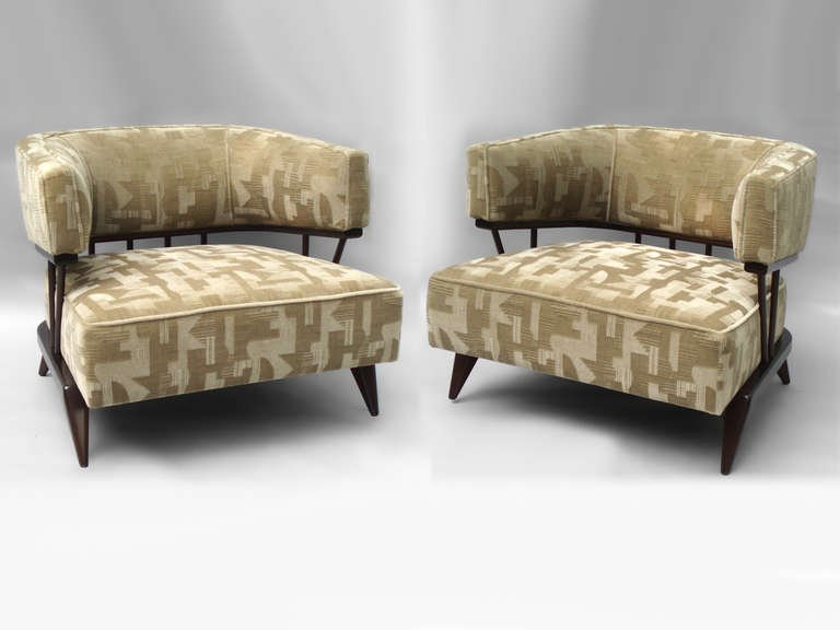 Mohair and Mahogany Moderne Lounge Chairs.jpg