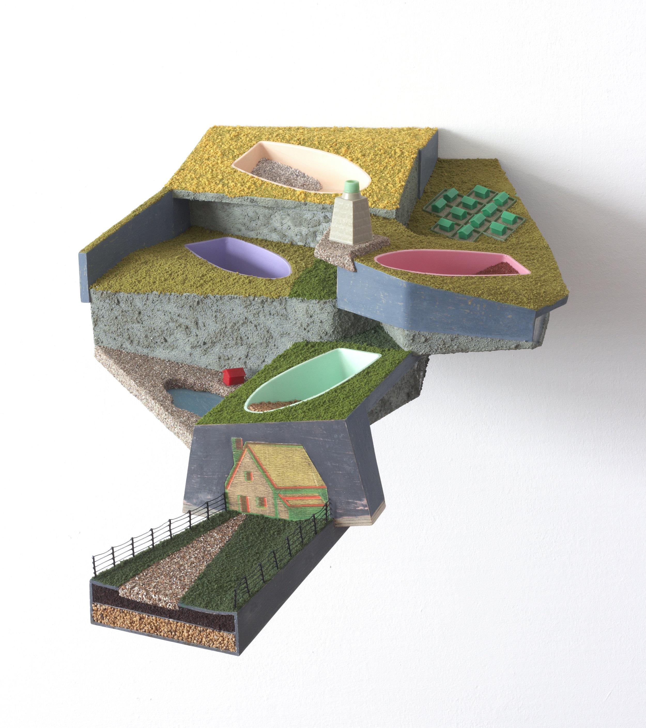 Sunlit Uplands (1992) 20 x 43 x 60 cms