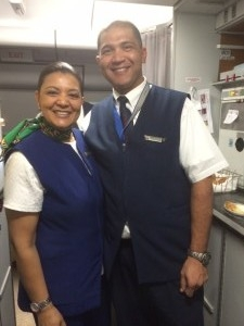 Some of our lovely flight attendants Cathy Levendal & Andrew McLellan