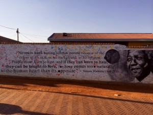 Mural found next to Nelson Mandela home in Soweto