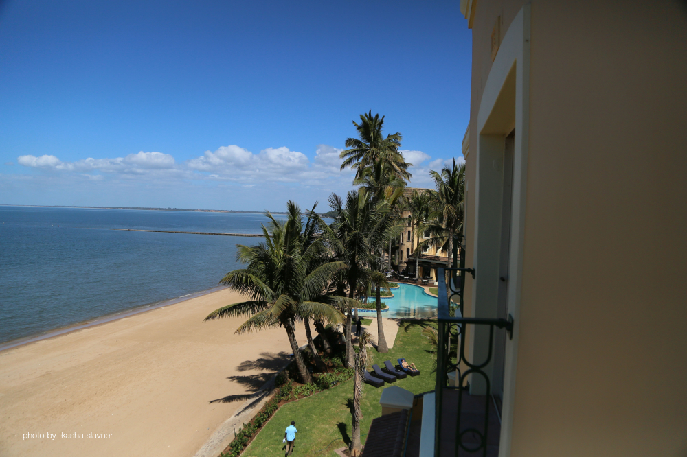 The Maputo property is right on the beach