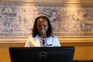 Sheila, one of the concierges at The Southern Sun Maputo