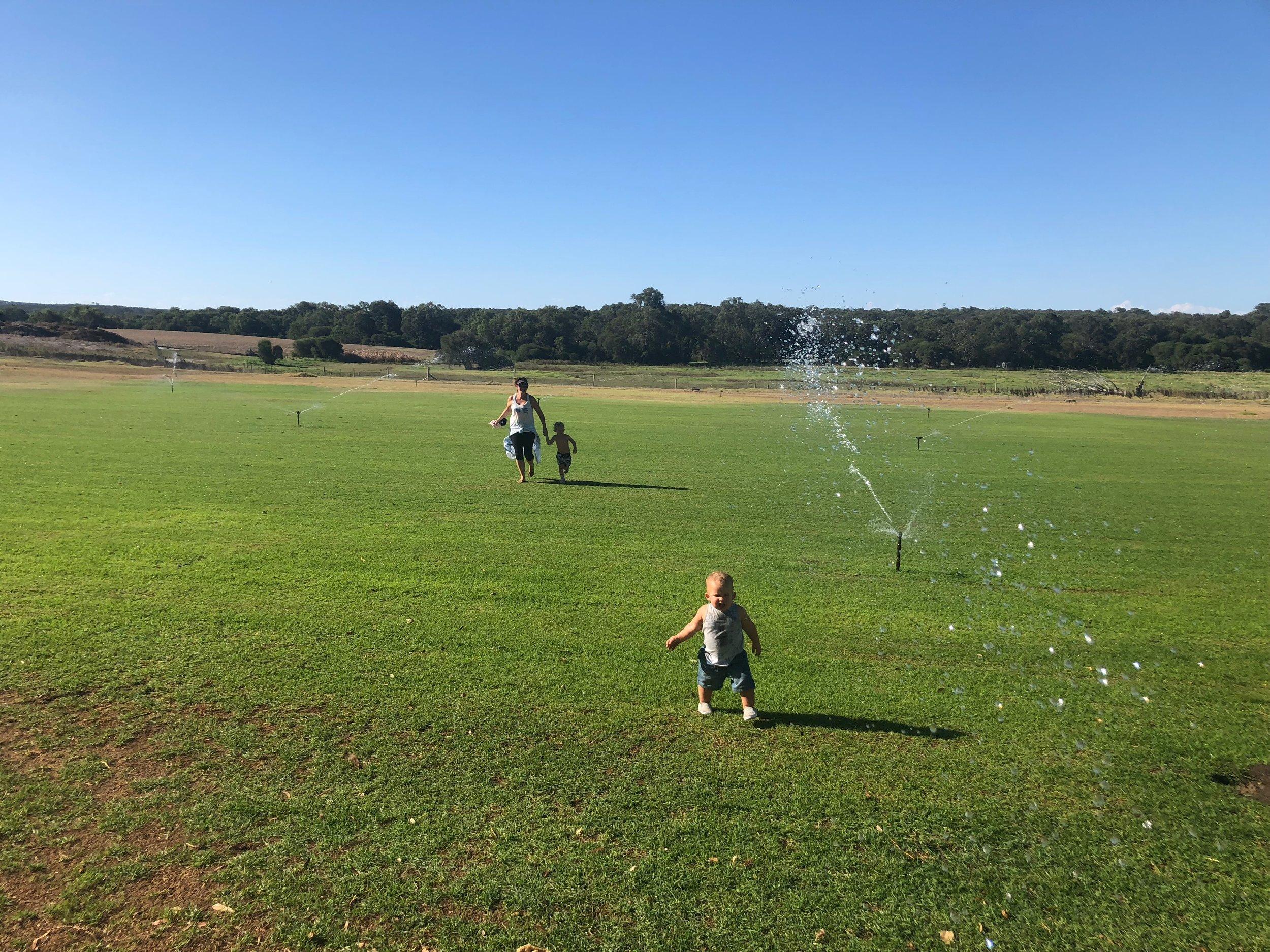 Dodging sprinklers