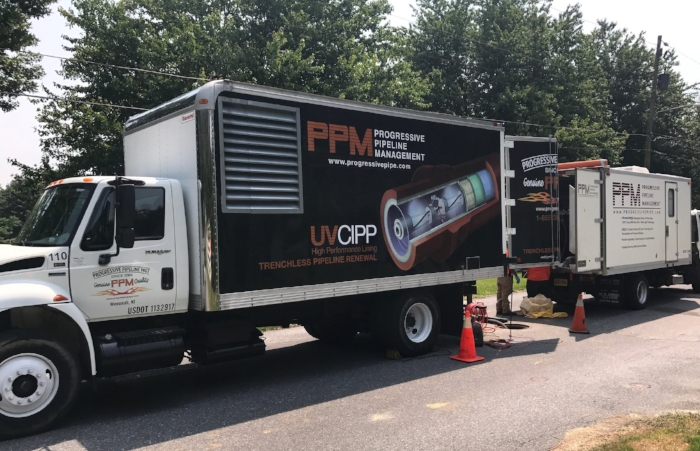 four hours. - PPM's water & sewer experts select SAERTEX-LINERS® over other lining methods for both the superior performance, long life and fast curing process.  In most cases, it takes just four hours to install a liner and put the renovated sewer system back into service. And the entire process is electronically controlled, supervised and documented for you.