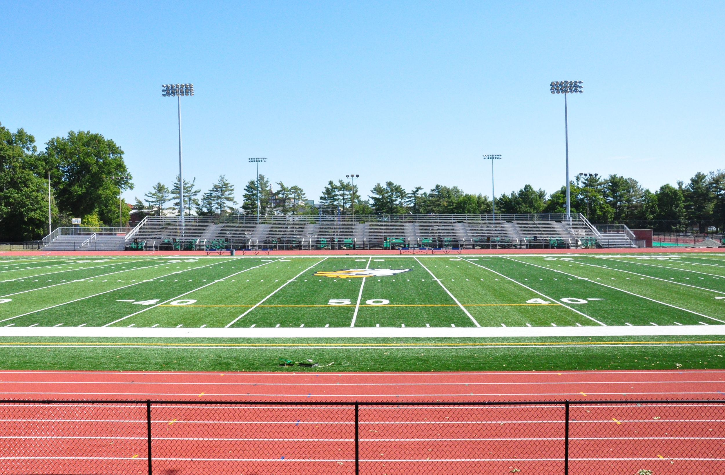 In 2016, the Coop's playing surface was replaced with an all-weather Field Turf field. Additionally, four new Musco light towers provide 50-foot candles of light to the field.