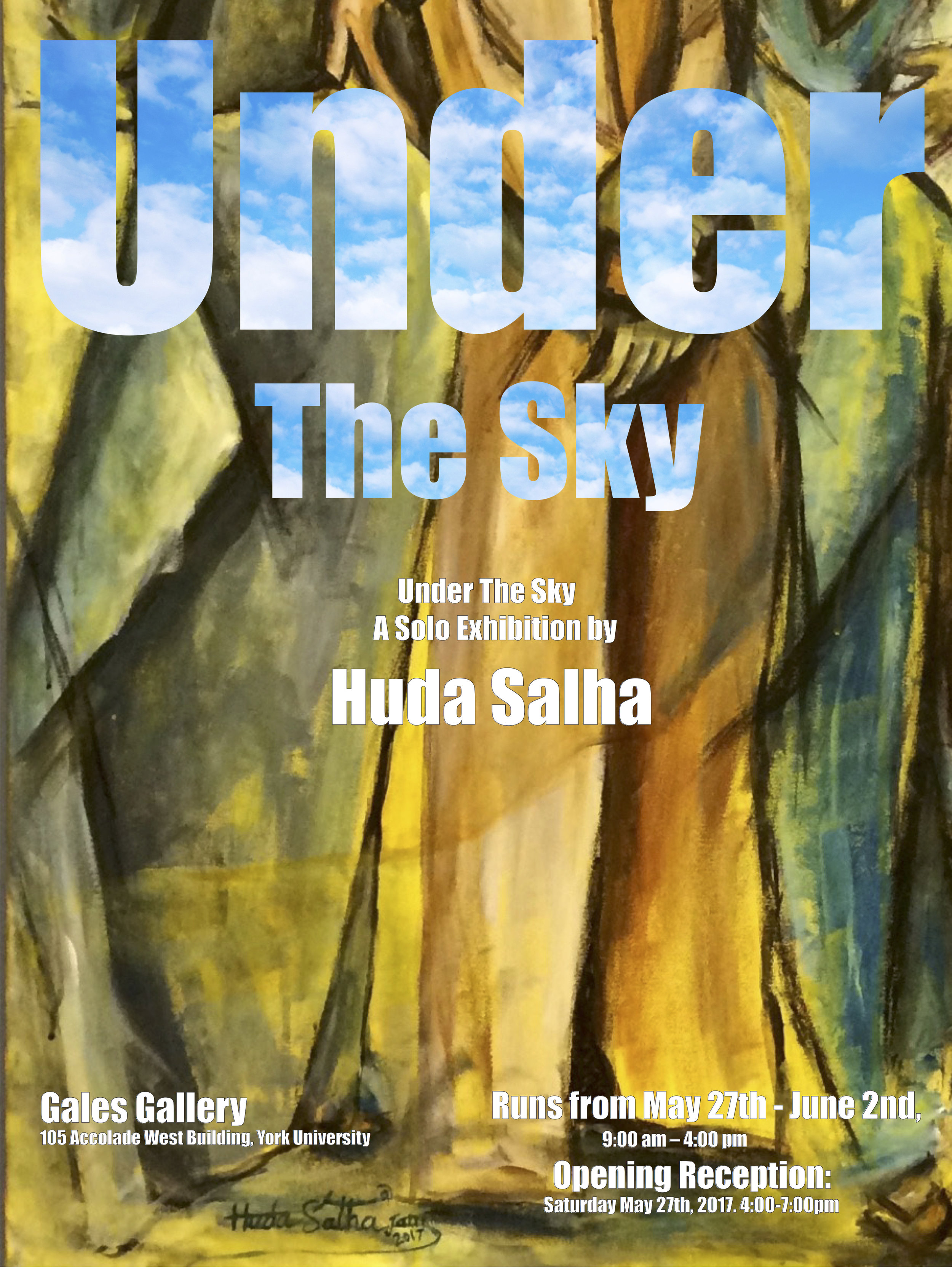 Under The Sky, A Solo exhibition by Huda Salha