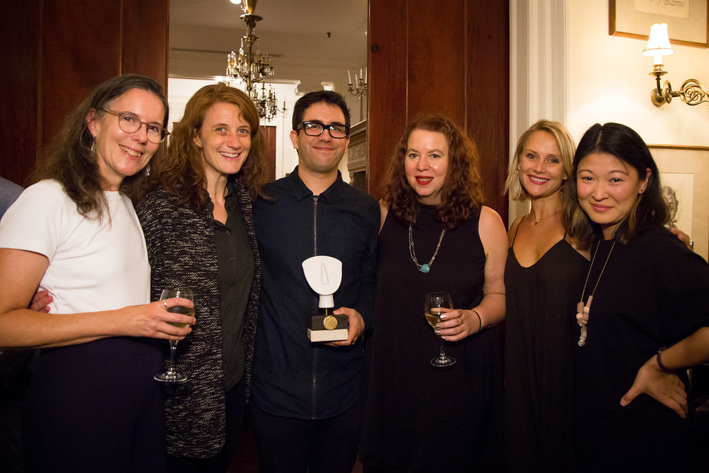 Kate Loewald, Lee Sunday Evans, Christopher Chen, Melissa Hardy, Leslie Fray, and Jennifer Lim. Photo by Valerie Caviness Photography for The Bret Adams & Paul Reisch Foundation.