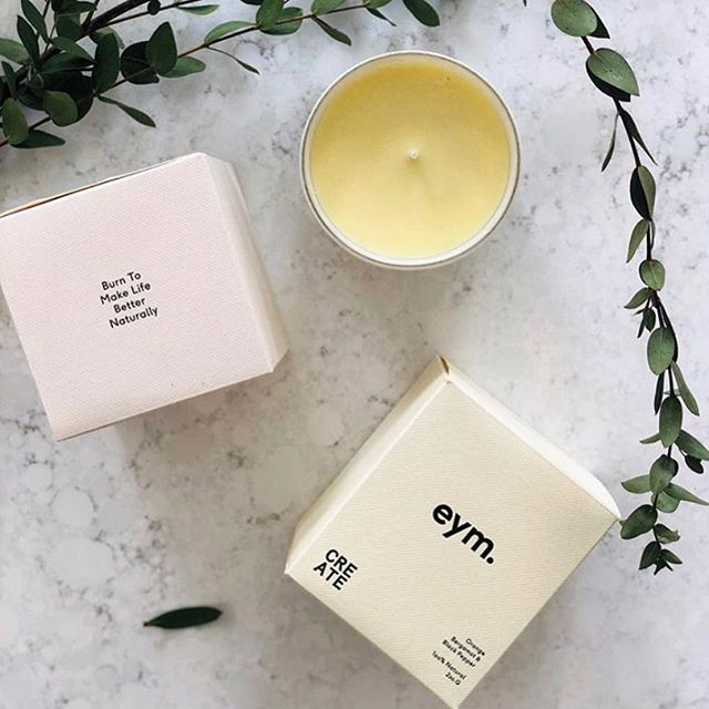 "We ❤️ this lovely post from super mumma @kimgrayza ""I Always loved a good candle and these minimal, all natural, consciously made @eymnaturals candles are right up there with perfection!  I used their BABY candle - (Sweet orange, camomile & lavender essential oils )when the triplets were still little babies and it was literally like a little spark of joy during some tough evenings!  Now, getting back into a little bit of ""work-a-la-dabbling-on-Instagram"", I'm excited to try their CREATE candle to spark some creativity! (Orange, Bergamot & Black Pepper essential oils) I know being stuck at home a lot, their HOME candle (Rose, geranium & camomile essential oils) adds a smile to my day! As I always say; make the mundane, everyday tasks, beautiful ✨"""