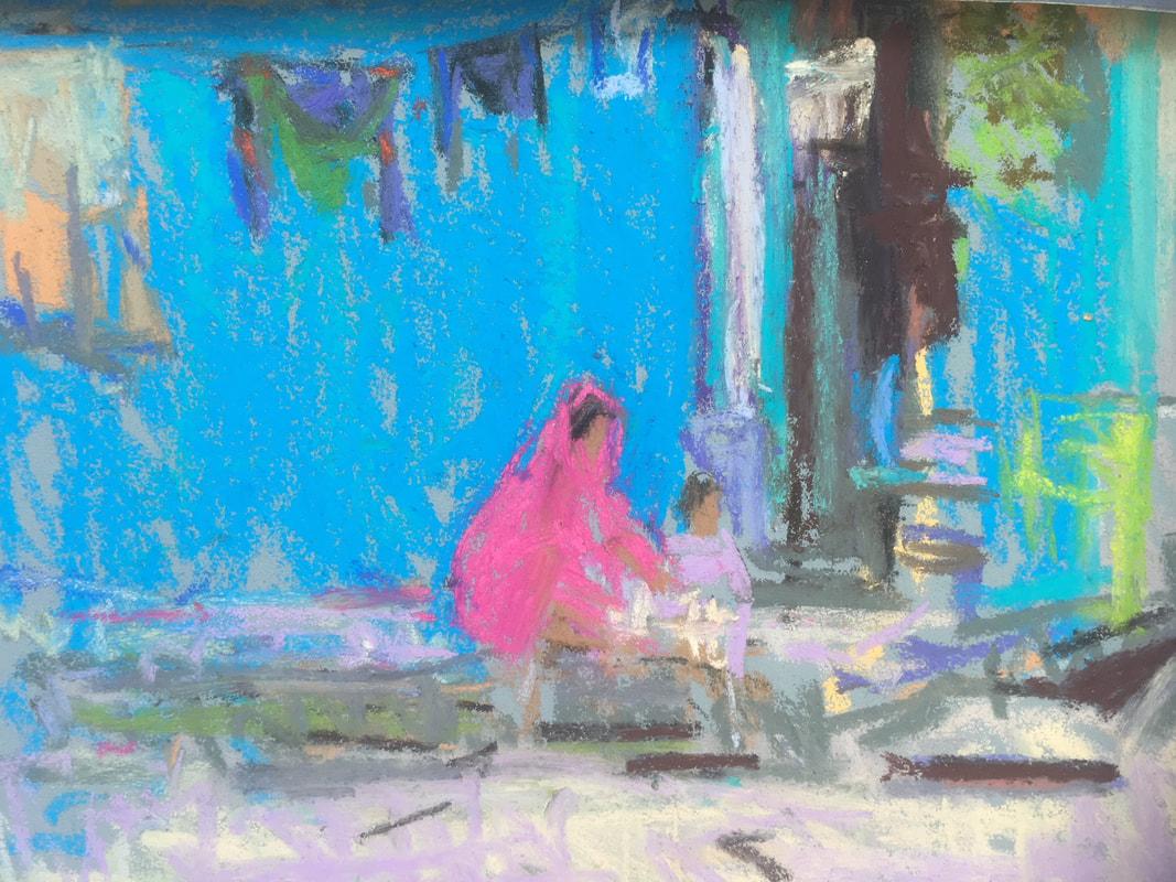 Louise Diggle,  Mother and Child Washing, Bundi