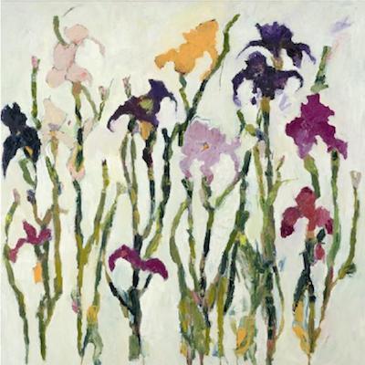 Irises oil by Annie Rouse