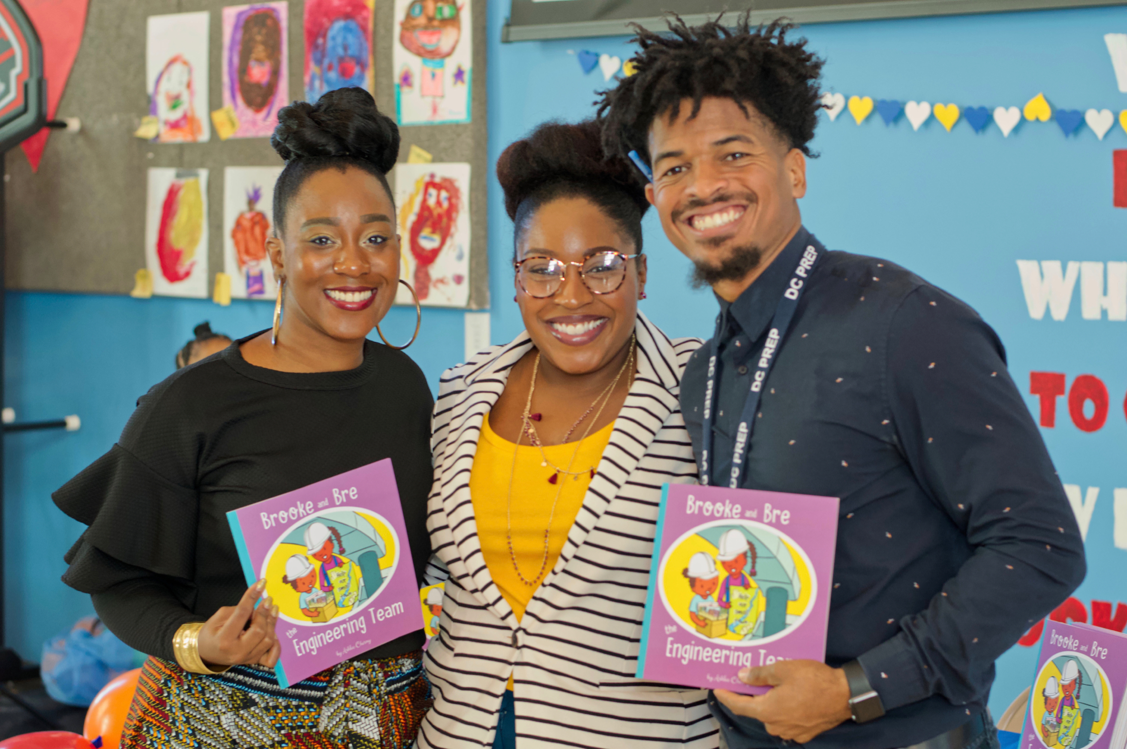 "Mr. Banks and Courtney Bennett of IPESD coordinated ""Mrs. Ashlee's"" and Genius Patch's October 2018 visit to DC Prep Anacostia Campus."