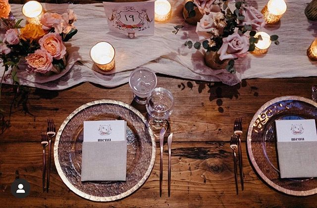 Looking to recreate this modern & warm tablescape from our wedding at @26_bridge ? ⠀ ⠀ Try adding the following details to your next table:⠀ ✨ rose gold flatware⠀ ✨ cozy napkins and runners in earth tones (this is our Whisper runner in Oatmeal!)⠀ ✨ florals in muted sunset hues (soft orange, lilac, and off white)⠀ ✨ all set against a table of raw wood with lots of charm⠀ ⠀ ⠀ 🍃 venue • @26_bridge • planner/designer • @joserolonevents 🍃Caterer • @marceybrownsteincatering 🍃 floral/Design • @iviejoyflowers 🍃 draping/lighting • @shadesofgreyproductions 🍃 cake • @sugar_monsterr 🍃 quarter • @highlinequarter 🍃 dj • @74events 🍃 photographer • @forgedinthenorth 🍃 videographers • @ay_video 🍃 rentals • @broadwaypartyrentals 🍃 specialty furniture • @rentpatina 🍃 glass goblets • @borrwedblu 🍃 photobooth • @hotbooths 🍃whisper runners • @thebayith⠀ ⠀