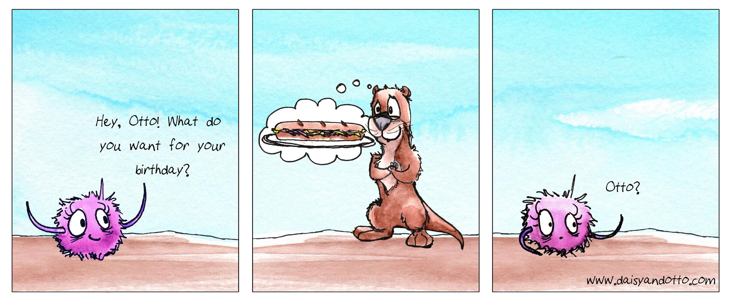 Daisy and Otto - Comic - Otto loves sandwiches