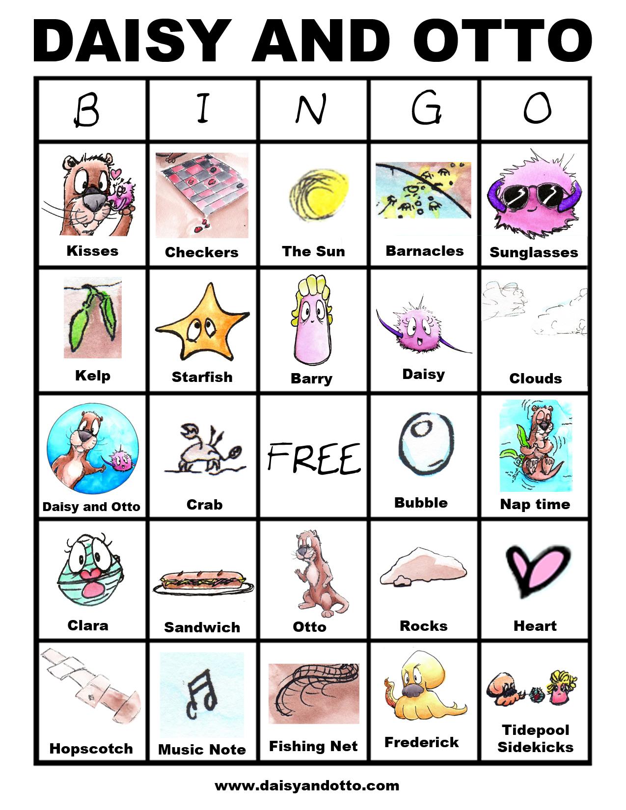 Daisy and Otto Free Bingo Game Printable