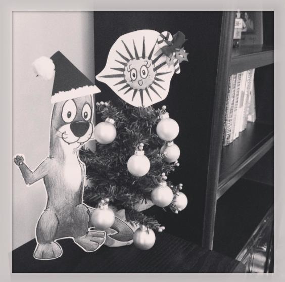 Daisy and Otto Holiday Photo