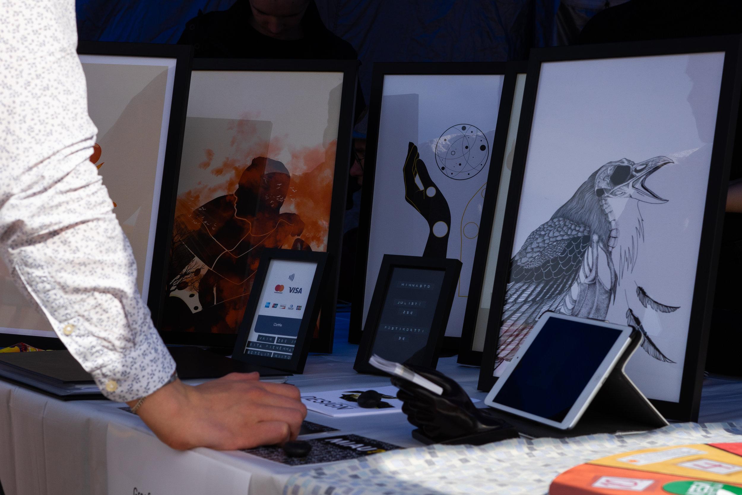 Mamuunu Designin tuotteet keräsivät ihailevia katseita. Kuvan ottanut  Jani Hokki .