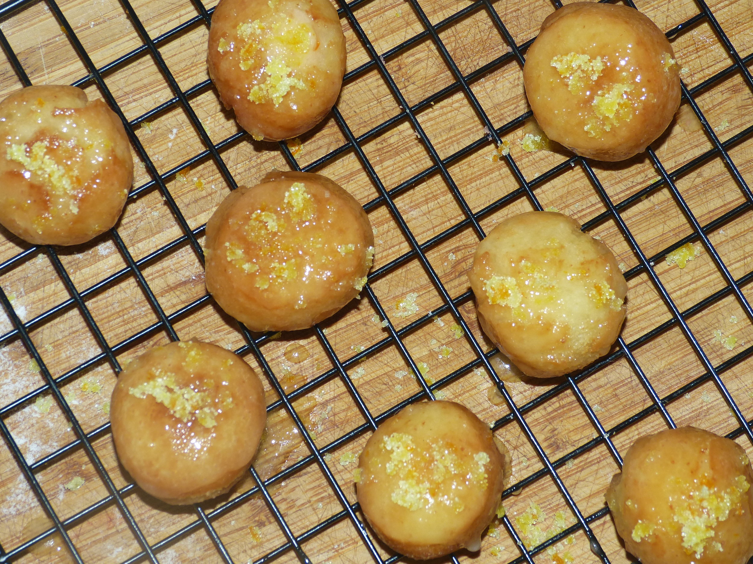 Step 10 - Let the glazed doughnuts dry on a cooking rack until they are no longer sticky...then enjoy!