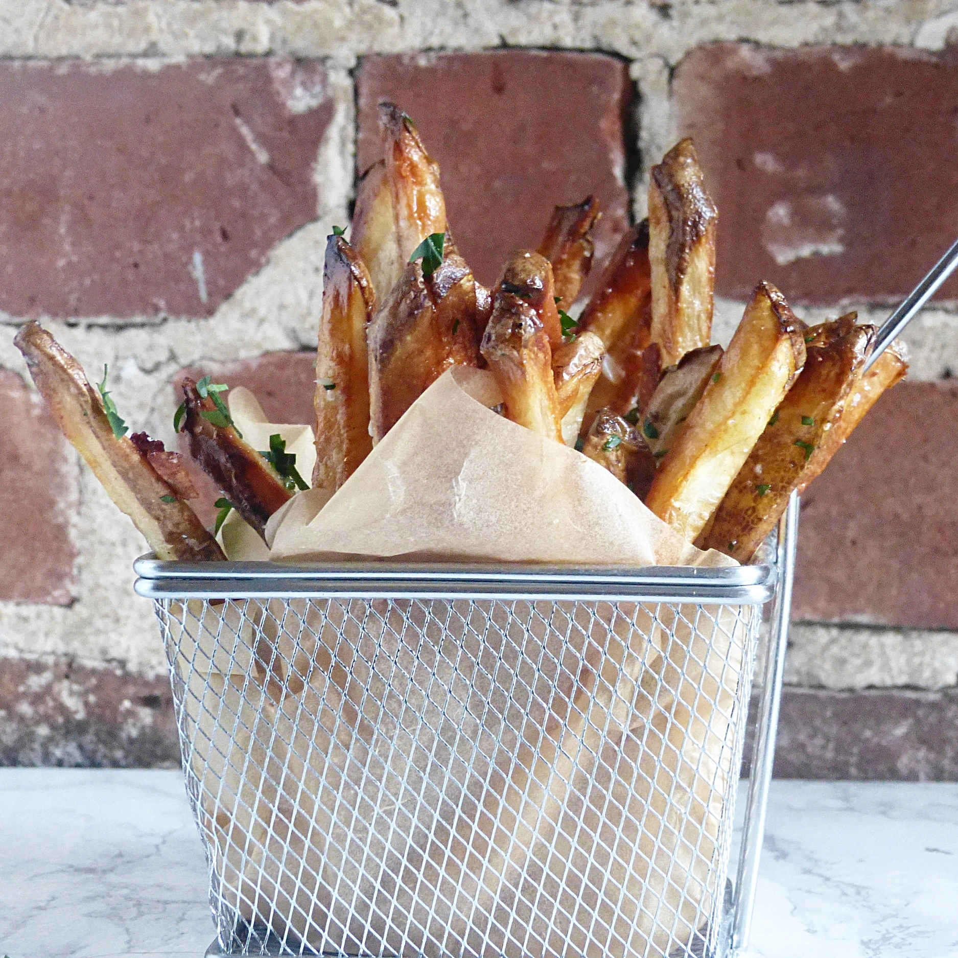 Oven-Baked Parmesan Truffle Fries -
