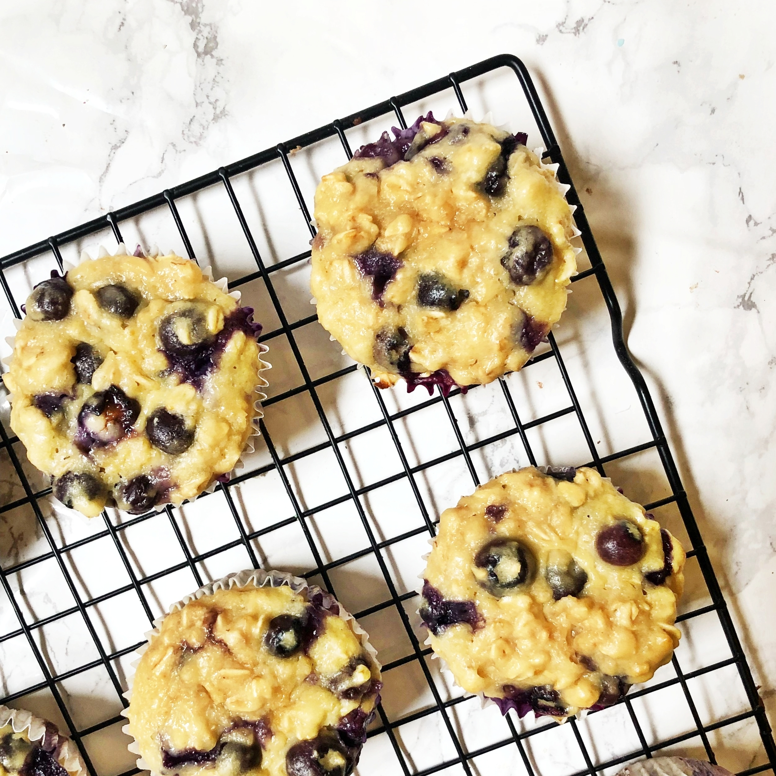 Greek Yogurt Blueberry Muffins -