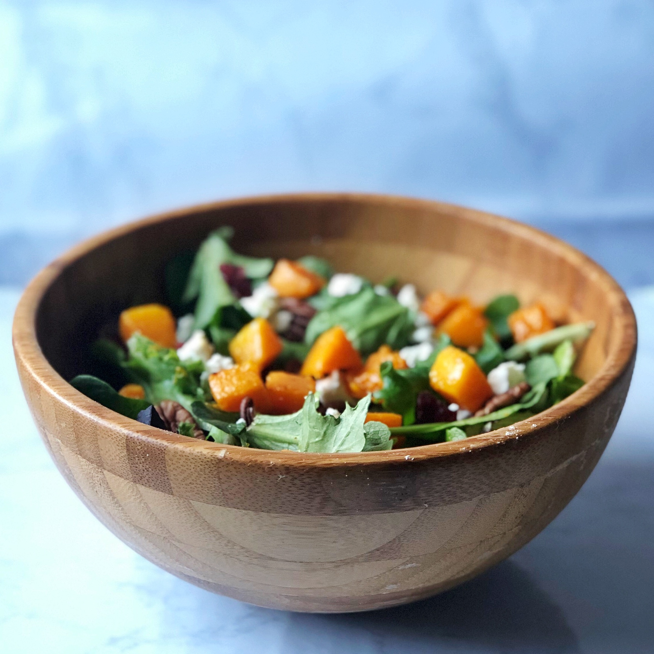 Butternut Squash & Goat Cheese Salad -