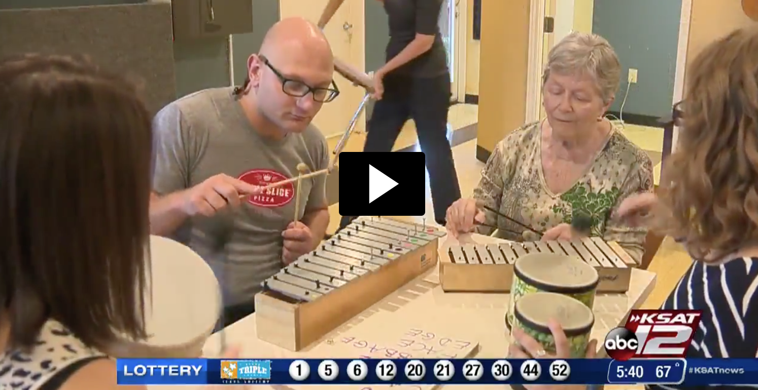 ABC News KSAT 12 San Antonio Feature – 5:30AM Good Morning San Antonio Show - Featuring our folks with Parkinsons. Reported November 10, 2015. Music therapist: 'Many unaware of obscure, but respected science' / Parkinson's patient: 'I've learned more about controlling my body'