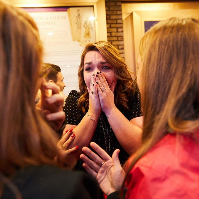 """Ashley's reaction was the best! She was jumping up and down and when Chris got on one knee to ask her, she replied """"FUCK YES!"""" — okay those are serious couple goals!"""