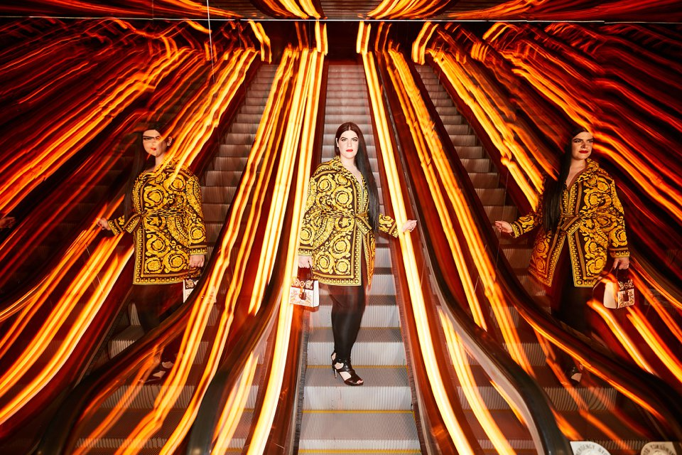This is from a shoot for my client Anita's social media. She is a budding designer that loves designers, especially Versace, so it was important for us to have a Versace looks for her shoot. The location is a hotel she was staying at in NYC.