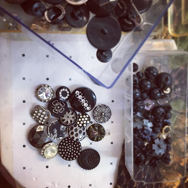 Buttons are the best bit. Lovely morning choosing Crow buttons at @academycostumes #costume #ballet