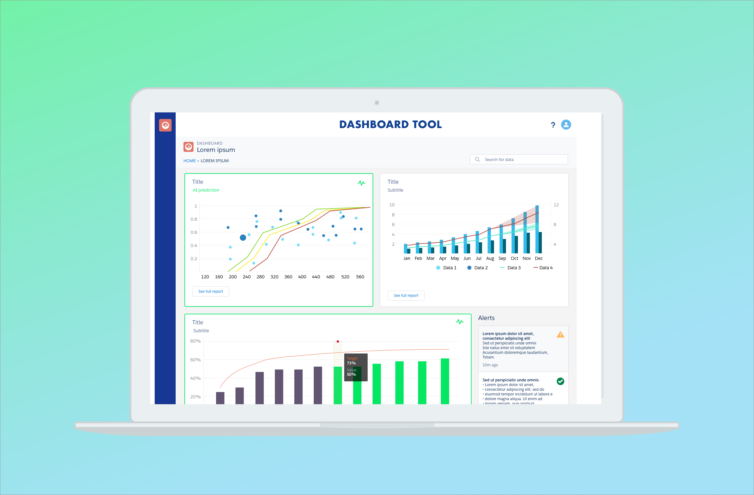 Enterprise Analytics Tool  - As a UX and UI designer I designed the user flows and high-fidelity pretotype of a Salesforce application for internal big data analysis