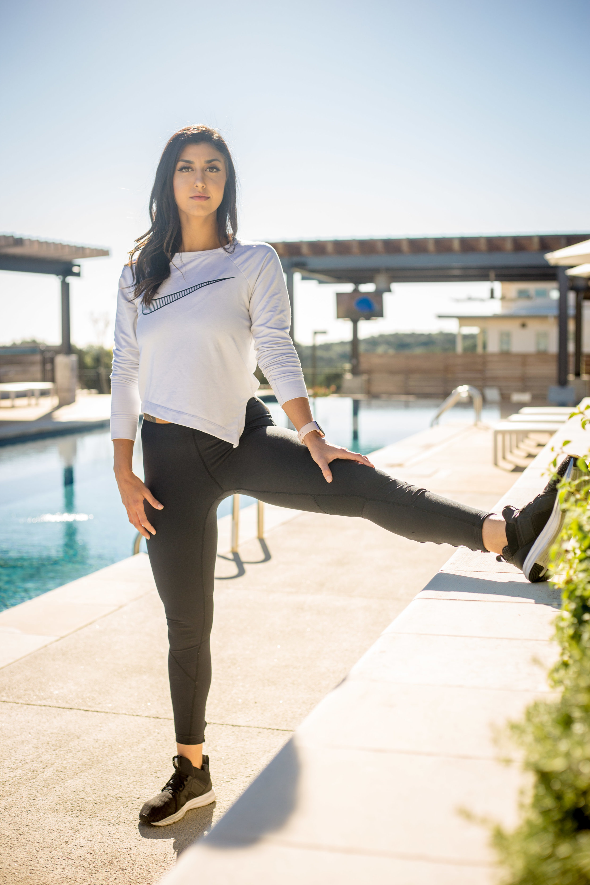 Portrait of a fitness instructor in Austin Texas