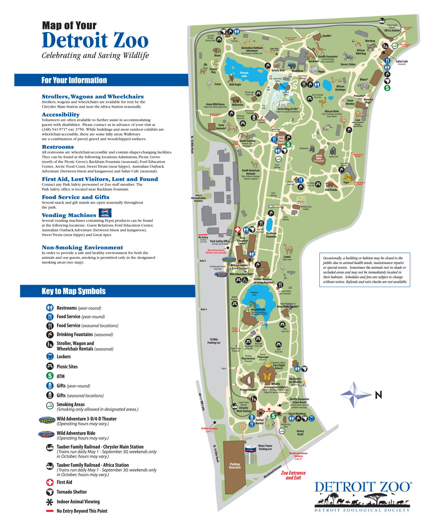 Detroit Zoo Map — OOMM Studios on