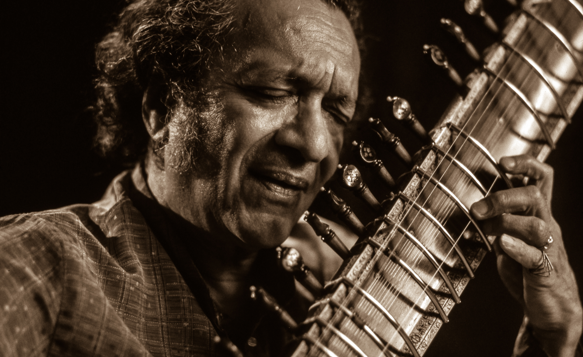 Through his shoots with subjects like friend Ravi Shankar (above), Alan Kozlowski documented both the spirit of musical artists and his own unique take on life.