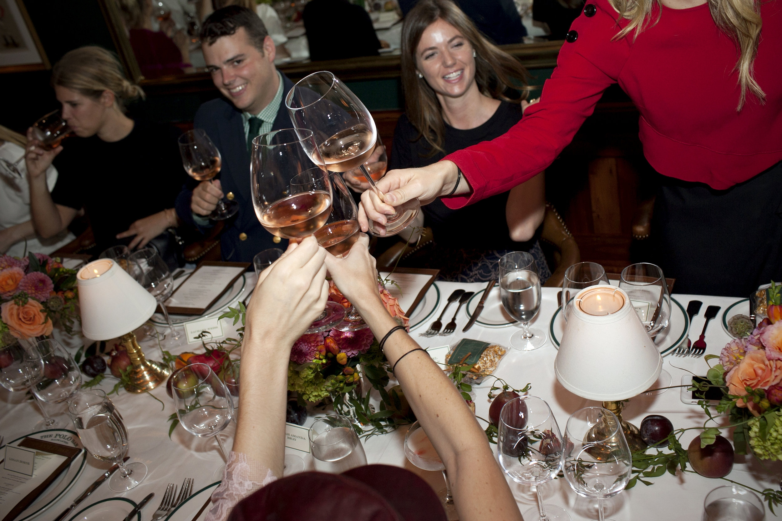 The Rosé Project dinner at The Polo Bar in NYC. Photo: Lexie Moreland.