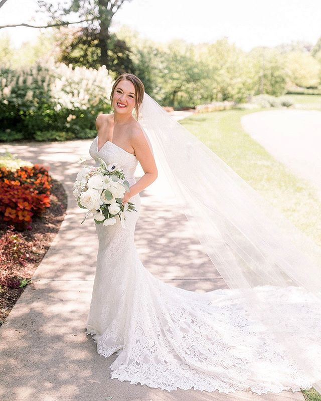 Congratulations to all our gorgeous brides who got married this weekend! ❤️ Including our breathtaking #MGCrealbrides, Katherine, who wore a custom Atelier Pronovias gown 🤩 We love seeing how happy and glowing you all are on your wedding days! . . Photography: @arielle.peters  Planner: @emilyventuradesigns  Hair & Make Up: @somethingbluestylists  Ceremony: St. John Reception: @biltwelleventcenter  Florist: @rkflorals