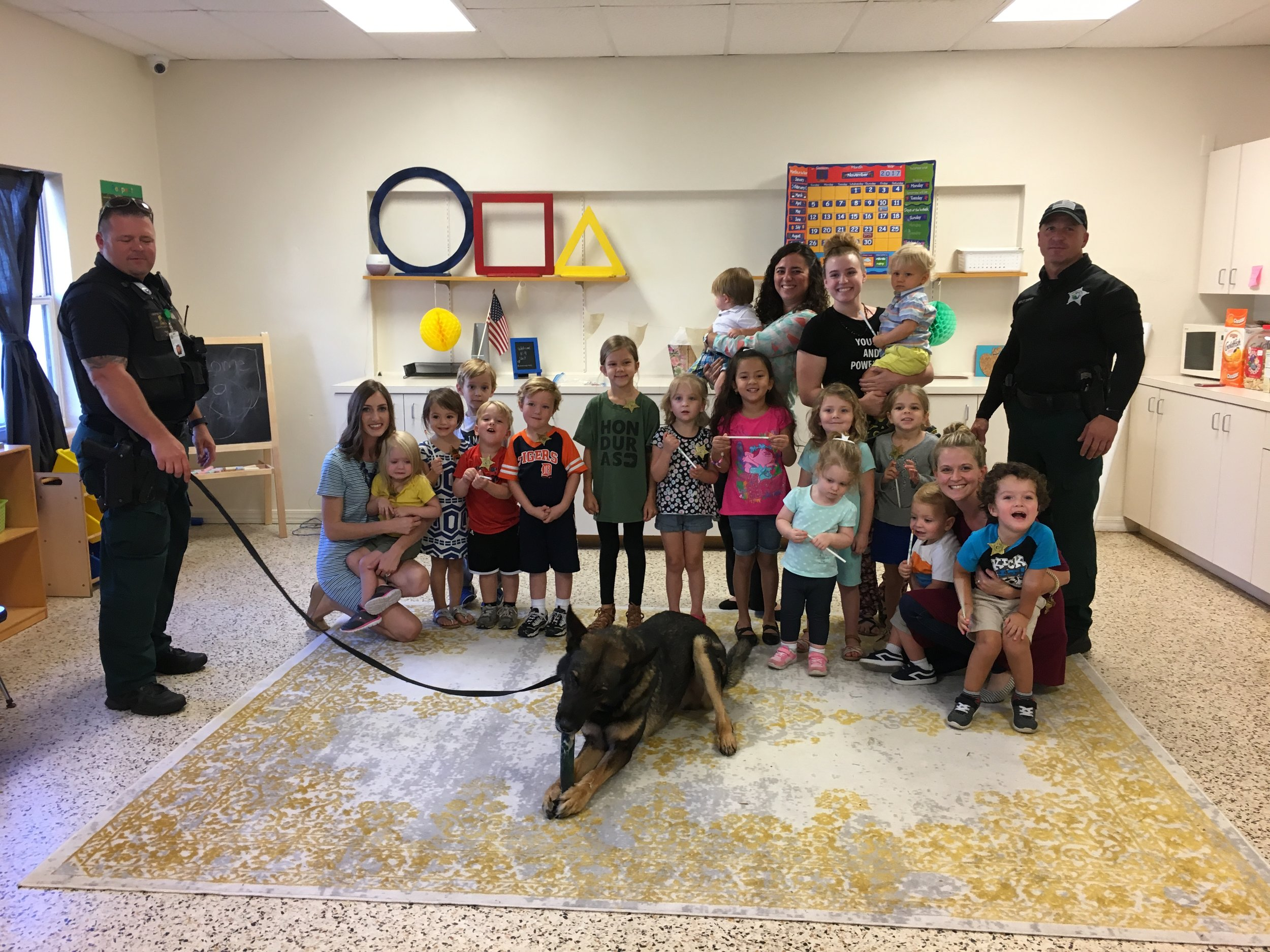 On November 8 we had the Winter Haven Police Department K-9 Unit come visit! The kids loved meeting Zorro the police dog and learning about the training the dogs go through to become officers!
