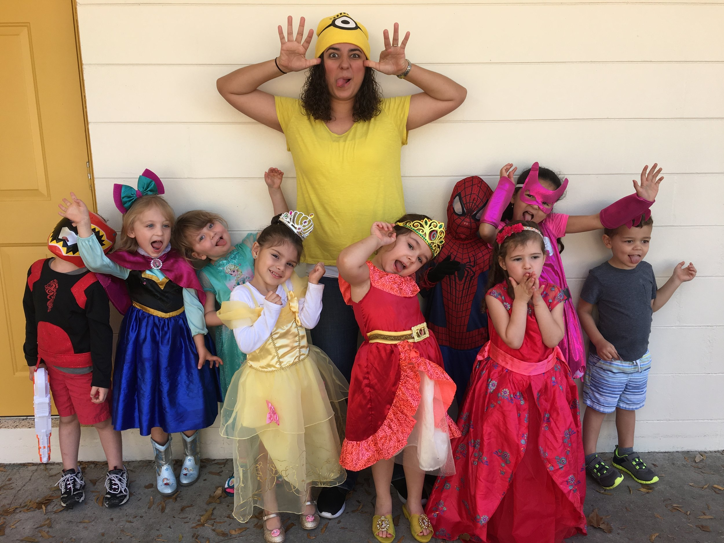 Our Sunflower's class had a Character Dress Up day!