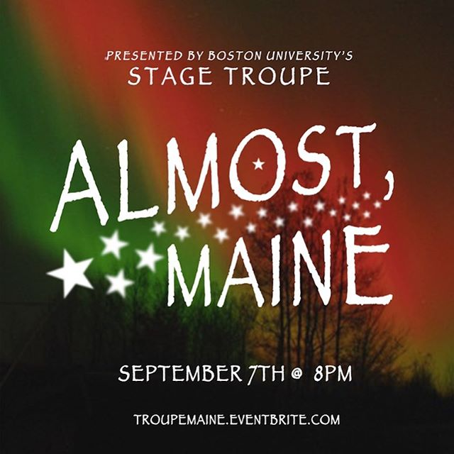 Weren't able to see summer show during orientation? Well you're in luck! The revival performance of ALMOST, MAINE is this Saturday, September 7 at 8PM in the Student Theater! Get tickets at the link in our bio 💜❄️