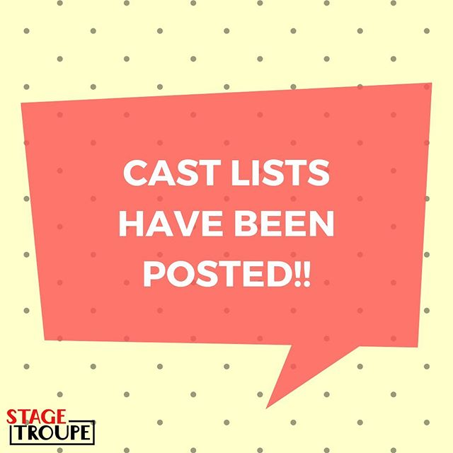Fall 2019 Cast Lists have been posted!! Link in our bio