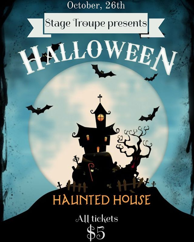 We are SO excited for our HAUNTED HOUSE special project!! Come on out to 25 Pilgrim Road (Fenway Classroom Building) tomorrow from 7-10PM and prepare to be SCARED! 🎃👻 Tickets are $5 and available at stage-troupe-haunted-house-2019-tickets.eventbrite.com !