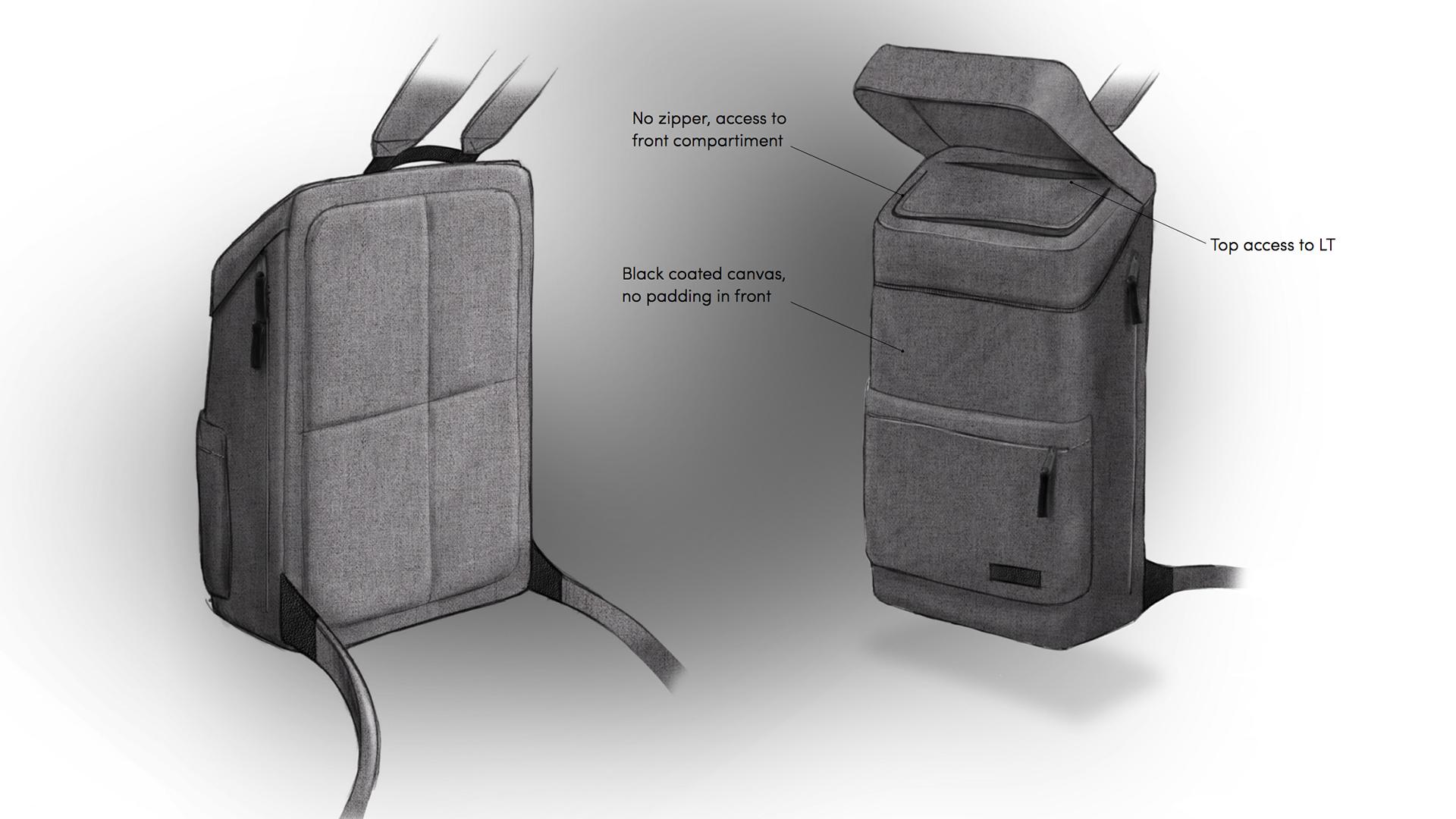 Eastpak design: hero sketch (copyright Edmire)
