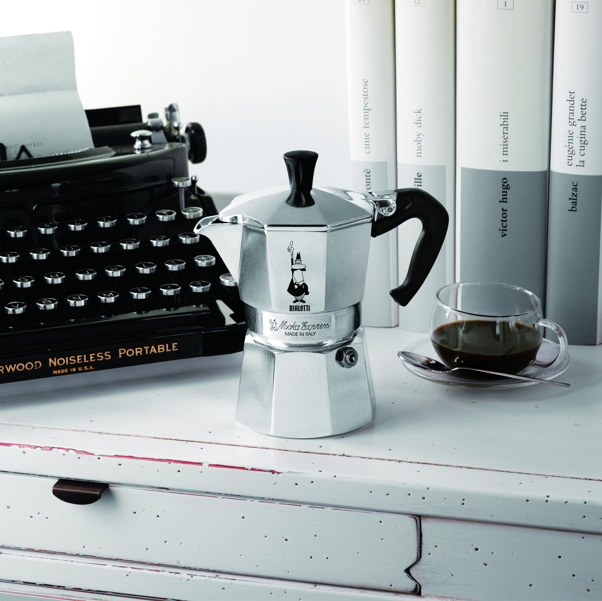 The classic italian 'Bialetti Moka Express' is a product that is built to last, accompanying you for ages.  image source:  https://www.thehomewarescompany.com/catalog/product/view/_ignore_category/1/id/5891/s/bialetti-moka-espresso-maker-12-cup/