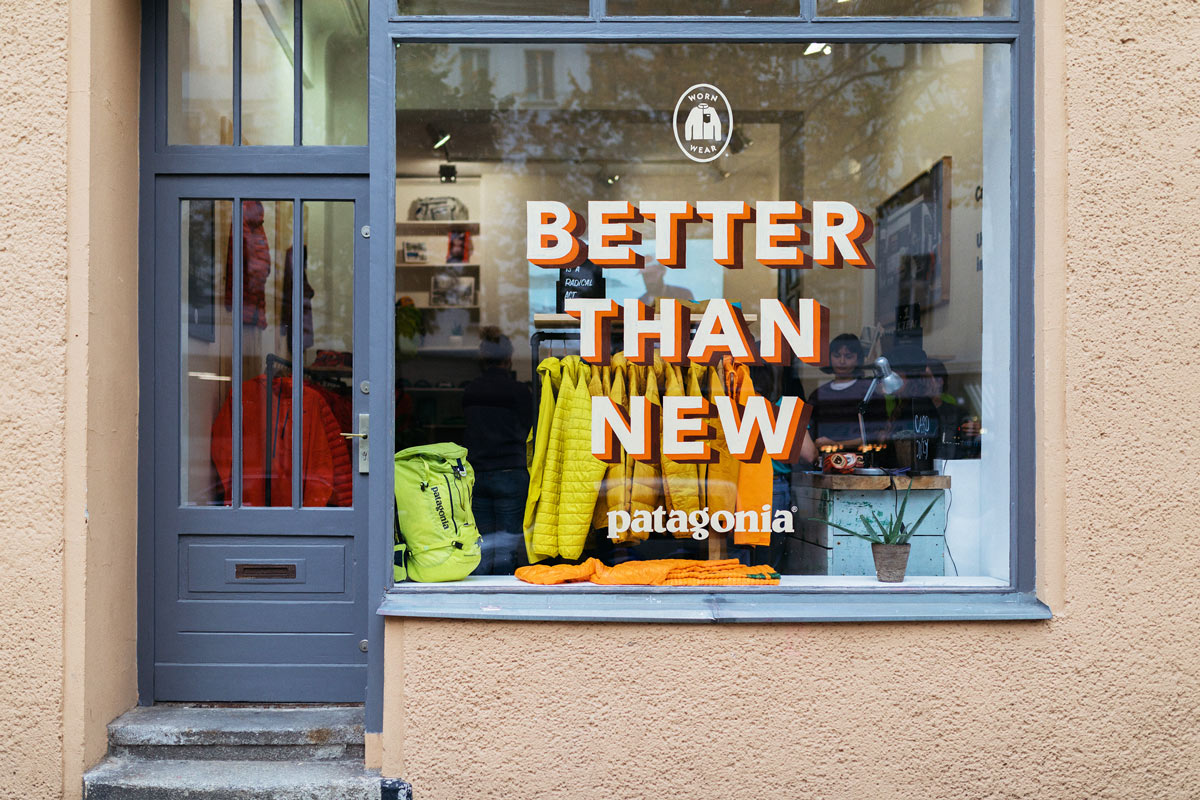 Outdoor brand Patagonia has its own second-hand shop for their own used apparel.  image source:  https://www.highsnobiety.com/2017/10/17/patagonia-worn-wear-program/