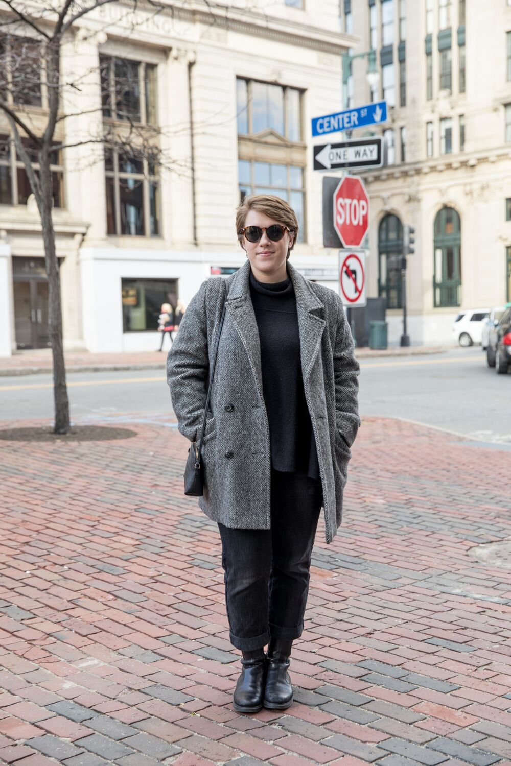 MIEKALA CANGELOSI - Recent purchase: My wool coat [pictured]Favorite local shop: Moody LordsNew or used: UsedDescribe your aesthetic:Minimalist with twist of funk